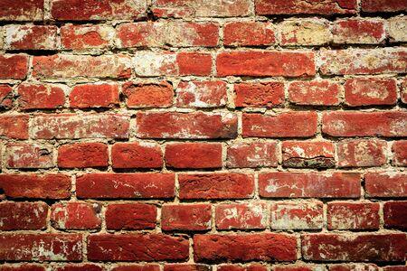 paredes de ladrillos: viejo ladrillo rojo - fondo abstracto