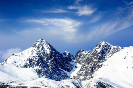 winter mountain scene in Tatras, Slovakia Stock Photo
