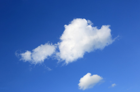 group of white clouds in blue sky