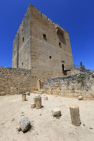 limassol: Tower of Kolossi castle near Limassol in Cyprus