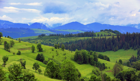 mountain landscape in Ukrainian Carpathians