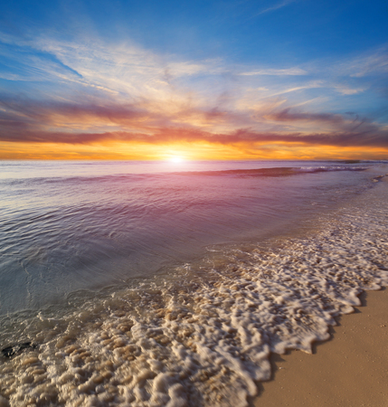 Nice susnet scene on seas shore