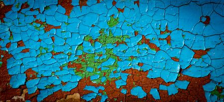 Abstract background with old cracked paint on a wooden surface 写真素材