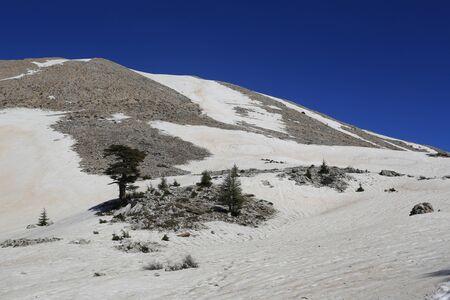 Famous Tahtali Dagi mountain in Turkey. Likya Yolu tiurist way.