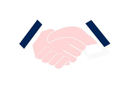 Businessmen are shaking hands. Drawn with vector program. 写真素材