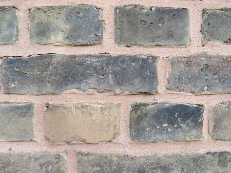 Brick texture in Frankfurt (Main), Germany. Front view. Eye level.