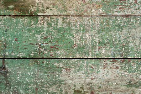 The texture of the boards. The fence is painted in green.