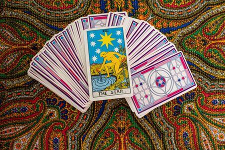 Tarot cards. Magic. Divination. The star Stockfoto