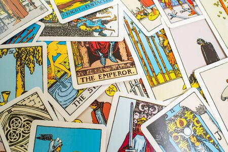 A deck of tarot cards. Fortune telling, prediction. Magic