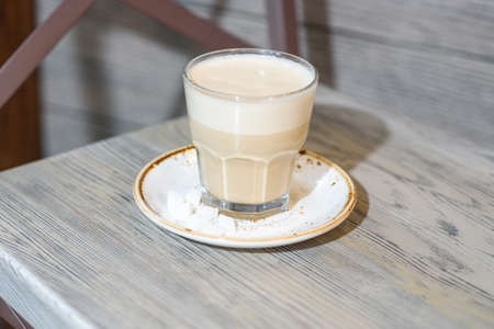 Delicious raff of coffee made in a coffee shop. Fresh and tasty drink. 版權商用圖片