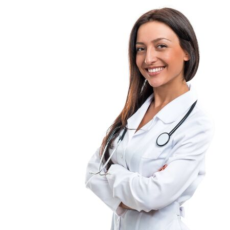 Portrait of a doctor on a white background Stock Photo