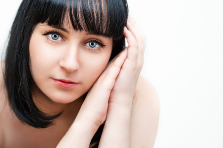 inner beauty: Natural beauty. Portrait of a beautiful young woman.