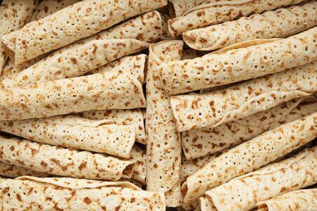 prepack: Background of pancakes Stock Photo
