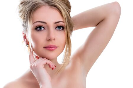 purity: Portrait of a beautiful young woman Stock Photo