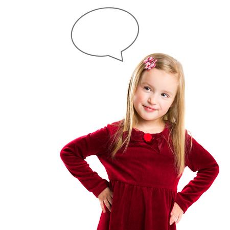 아름 다운 작은 소녀의 초상화입니다. 아이들의 꿈 스톡 콘텐츠 - 93071957