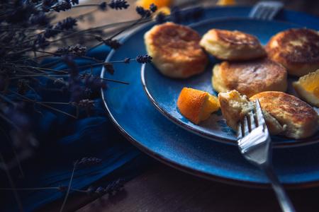 Food. Breakfast. Cheesecakes