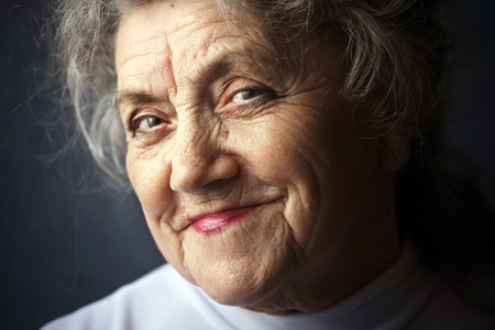 cunning: Cunning and smiling granny face