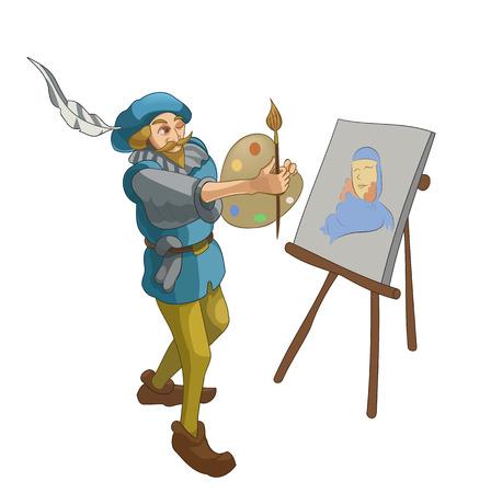 Vector artwork of the artist