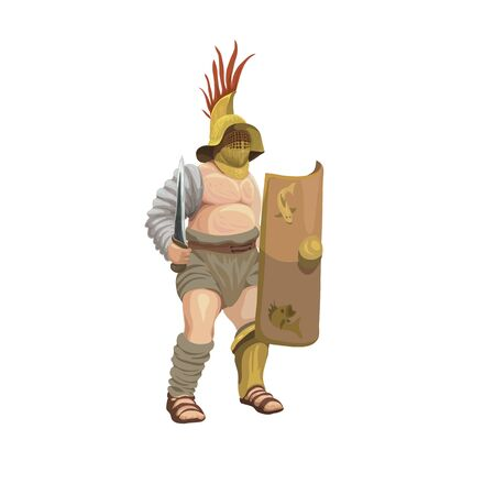 Gladiator murmillo, vector illustration.