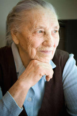 Portrait of an old woman from Ukraine  Stock Photo