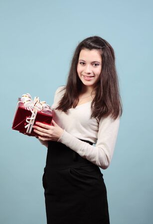 A beautiful girl with a gift.