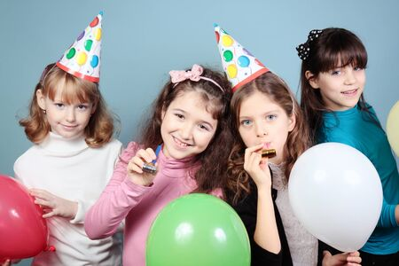 A group of girls birthday party.