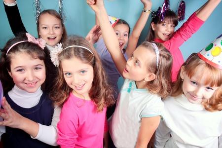 Kids Birthday Party in studio. Stock Photo