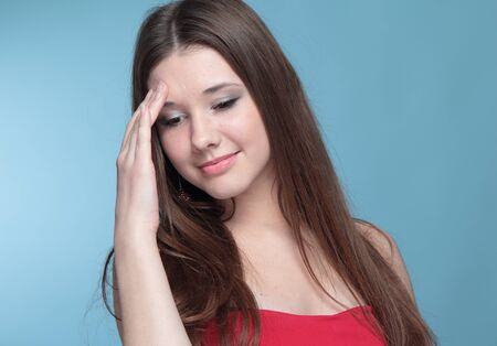 Portrait of funny girl Stock Photo