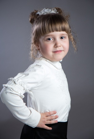 A Little girl in the studio.