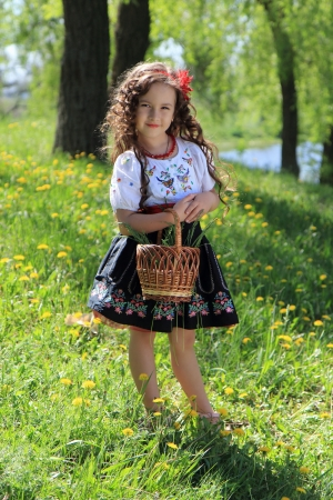 Little girl in the Ukrainian national costume. photo