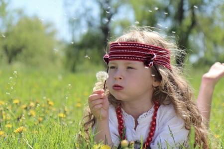 Little girl in the Ukrainian national costume