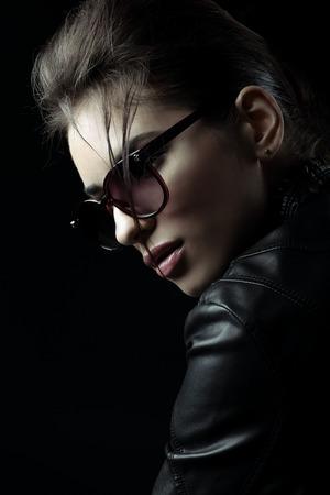 Portrait woman in jacket photo