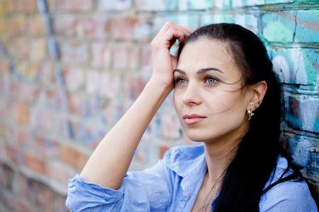Beautiful woman in depression