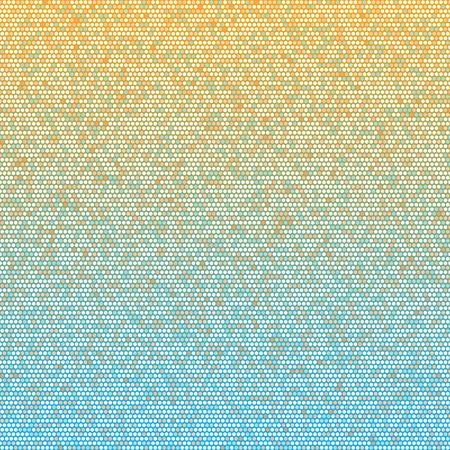blue circles: Blue, orange and white circles seamless pattern