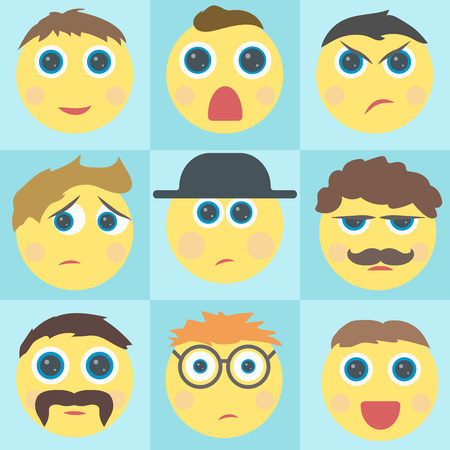 smile face: Emoticon. style smile face icons