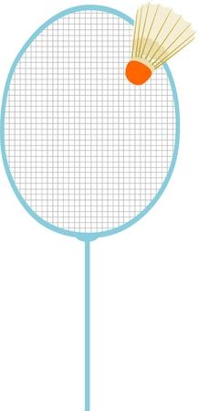 vector - badminton racket with Badminton shuttle Stock Vector - 2783670