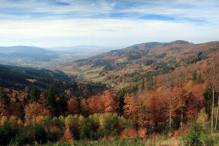 newlands: autumn in mountains Stock Photo