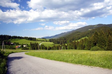 road under mountains western Tatry - Rohace in Slovakia in Europe Stock Photo - 2820196