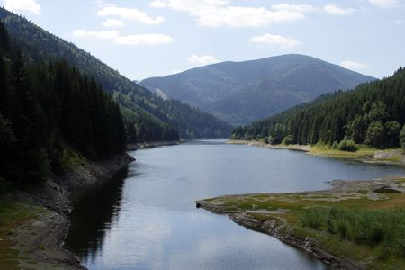 inflow: water inflow to dam among mountains