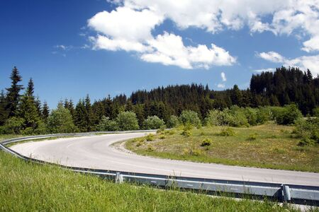 road over mountains western Tatry - Rohace in Slovakia in Europe Stock Photo - 2820406