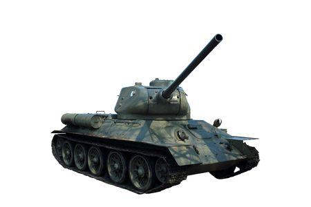 world war two: tank T34 on white background - World War Two