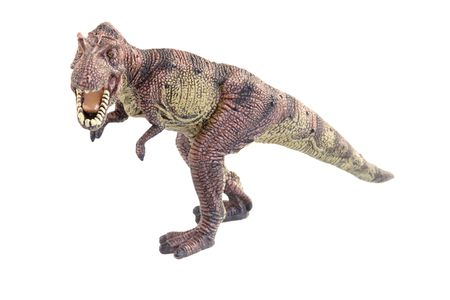 Dinosaurus op de witte achtergrond
