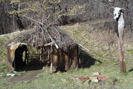 tenet: Prehistoric quarters with skull totem