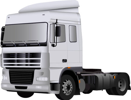 remolques: vector - gran cami�n blanco vac�a Vectores