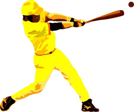 baseman: vector -  Baseball player isolated on background