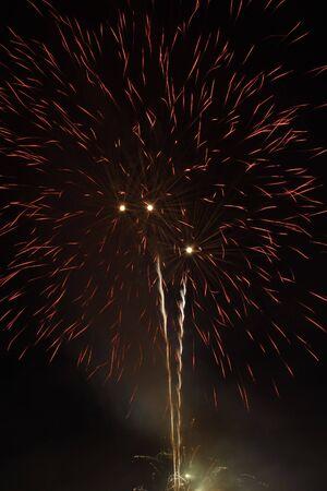 multi national: nice fireworks on dark sky