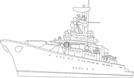 war paint: vector de batalla buque aisladas sobre fondo blanco