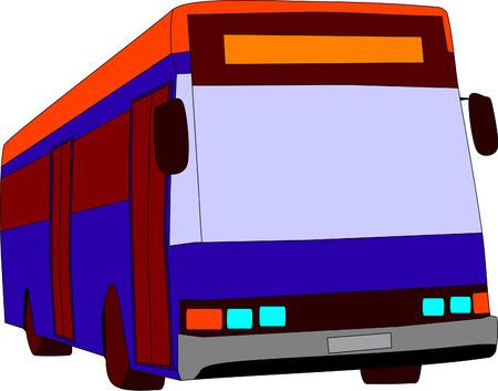 vector - city bus with two doors Vector