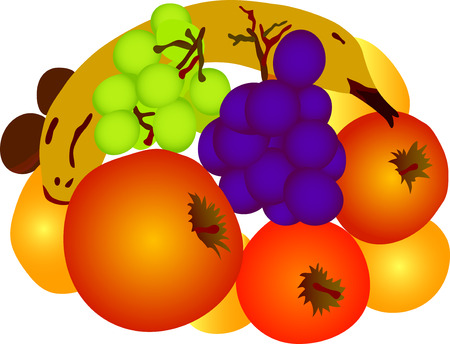 vector -  fruit isolated on white background Stock Vector - 4325135