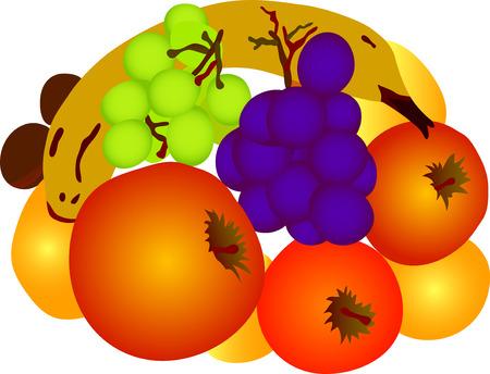 juicy: vector -  fruit isolated on white background Illustration